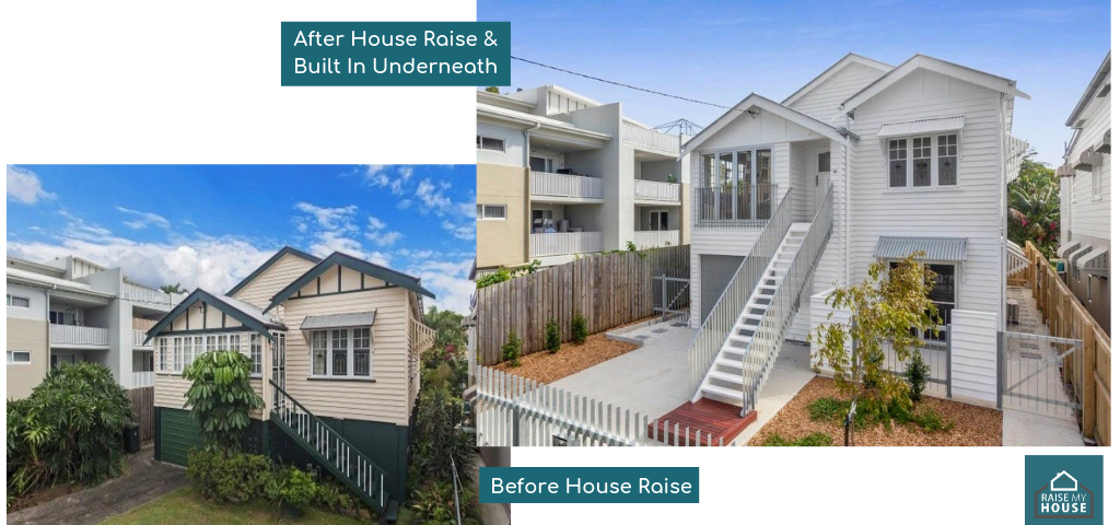 House Raise Before & After